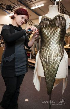 Making one of Tauriel's outfits (concept art outfit - not used in film)
