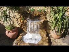 como hacer cascada de 2 caidas efecto cortina - YouTube Marian Garden, Mi Photos, Backyard Water Feature, Easy Home Decor, Great Videos, Water Features, Ideas Para, Pond, Fountain