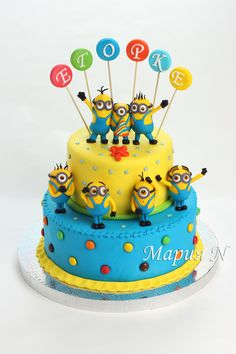 - Toddler Birthday Cakes, 4th Birthday Cakes, Minion Birthday Invitations, Lego Invitations, Cake Decorating Books, Minion Party, Novelty Cakes, Cakes For Boys, Cake Tutorial