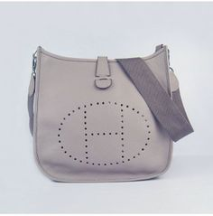 Hermes evelyn grey silver togo leather