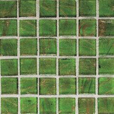 green bathroom tile