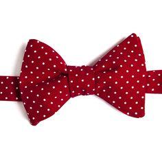 Nœud papillon Mini pois Bordeaux  Burgundy with pin dots bow tie
