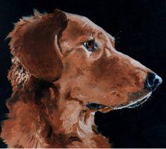 """Jesse James"" - golden retriever - 10x14 Oil on Canvas"