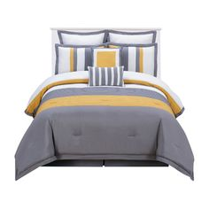 Found it at Wayfair - Rochester 8 Piece Comforter Set in Yellow & Grey http://www.wayfair.com/daily-sales/p/Bedding-Set-Clearance-Rochester-8-Piece-Comforter-Set-in-Yellow-%26-Grey~DQT2154~E18455.html?refid=SBP.rBAZEVSF5NyrgmObhRD6AoYytG1QJkdHsMlCK0j5EmU