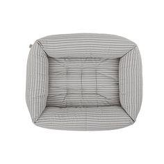 Bolster Dog Bed Powder Grey Stripe Medium