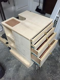 Here's my latest project: The Drill press cabinet. I have like 4 concurrent projects right now and they are all making progress, so I'm glad to get this one out of the way. This is based upon Woodsmith's dill press cabinet plans. Workshop Storage, Workshop Organization, Tool Storage, Workshop Ideas, Woodworking Drill Press, Woodworking Tips, Custom Woodworking, Drill Press Table, Drill Press Stand