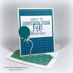 Happy New Year Peeps! I'm thrilled to dip my toes back in the crafting pool with new products from the Stampin' Up! Occasions Catalog 🙂 This print from the new Party Animal Designer Series Paper caught my eye with its'...