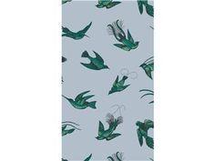 Cole & Son TROPICAL BIRDS BLEU 89/1003.CS - Kravet - New York, NY, 89/1003.CS,Lee Jofa,Light Blue,Up The Bolt,TROPICAL BIRDS,Wallcovering,United Kingdom,Yes,Cole & Son,TROPICAL BIRDS BLEU