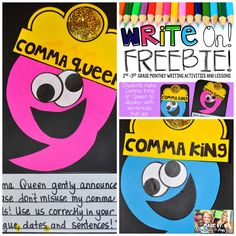 Commas in a series lessons 2nd grade