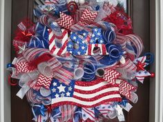 Hey, I found this really awesome Etsy listing at https://www.etsy.com/listing/230692875/usa-flag-poly-deco-mesh-wreath-patriotic