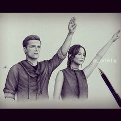 Katniss and peeta ---> the Hunger games catching Fire  Vía @_artistiq >>> These are amazing!!!!