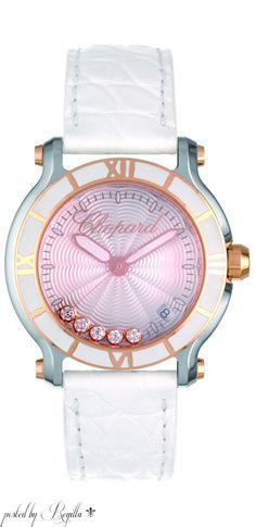 Farb- und Stilberatung mit www.farben-reich.com # Chopard Pink Happy Diamonds Watch
