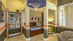 Have a sports fan in the family? He'll adore this bedroom. Come check out the #GrandOpening at Norterra Ridge in PHX, Nov. 9, 11 am- 4 pm. Directions- http://www.taylormorrison.com/new-homes/arizona/phoenix/phoenix/reserve-at-norterra-summit-collection-community