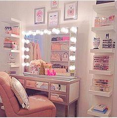 8276f69b41d0 Quarto de menina maquiagem Makeup Storage Dressing Table