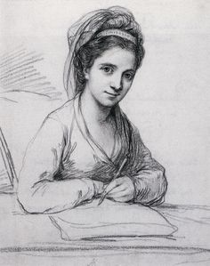 Angelica Kauffmann, Self-Portrait, 1771, (Yale Center) see her portrait of English aristocrat in Portaits