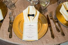 Even the napkins dressed up for your special day! Richard Nixon Library Wedding