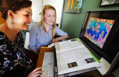 Dr. Jacqueline Pei (left) is working on research that shows how a video game is helping young people with Fetal Alcohol Spectrum Disorder improve their cognitive abilities. Her student, Marnie Hutchison, is one of the interventionists who works closely with the kids.