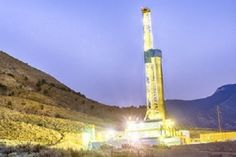 Shale Gas Rig at night