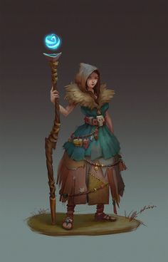 Silvan witch, Angelika  Winter on ArtStation at https://www.artstation.com/artwork/silvan-witch