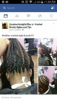 Crochet braid styles 582371795536176295 - Crochet braid pattern Source by attouman Crochet Braid Pattern, Crochet Braid Styles, Braid Patterns, Crotchet Styles, Crochet Twist, Crochet Braids Hairstyles, Girl Hairstyles, Braided Hairstyles, Crotchet Braids