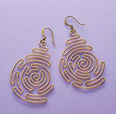 maze earrings