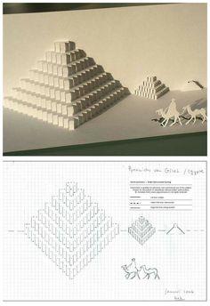 立体卡片--埃及金字塔