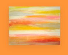 Summer Sorbet Original Abstract Painting Fine Art on Gallery Canvas Shabby Chic by Ora Birenbaum via Etsy