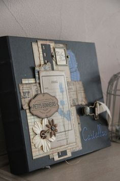 Un album tr�s vintage... merci Cathyscrap pour ce beau projet ! Attention.. il y a BEAUCOUP de photos ! Pr�t(e)