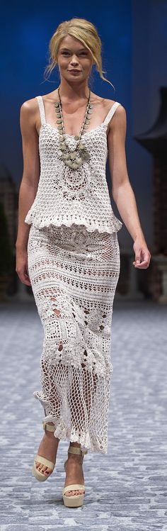 Crochet on the Runway :: Presented for the first time on the catwalks of Mercedez-Benz Fashion Week in Stockholm ~ More Crochet on My Style ...