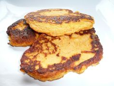 Potato Pancake Recipe - A Childhood Favorite Potato pancakes have been one of my favorite dishes since childhood when my mother would make . Low Carb Sweet Potato, Sweet Potato Pancakes, Mashed Sweet Potatoes, Sweet Potato Recipes, Paleo Pancakes, My Recipes, Low Carb Recipes, Best Healthy Recipe Books, Cooking With Coconut Oil