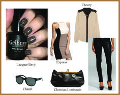 Try a taupe and black mani! This nail design pairs well with your favorite leather skinny jeans and taupe blouse for a look that makes a statement. Read more about this look at http://lacquerenvy.tumblr.com/post/78639252636/taupe-and-black-print-nails