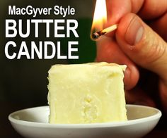 DIY Make a Butter Candle - Neat Candle to Make in an Emergency or any time! (Super cool idea when camping or as part of a survival kit!)