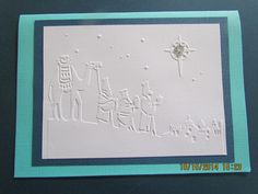 Simple Wisemen card made at a ladies church group card party 2014.