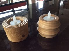 Maple tea light holders