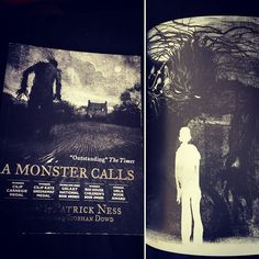 I can't express just how heartbreakingly perfect and important this book is. Jim Kay's illustrations are so stunning and I feel like it should be required reading! Not sure how I feel about the film that's coming out of it, but will probably go and see it anyway ^^ #AMonsterCalls #PatrickNess #JimKay #SiobhanDowd #WalkerBooks #monochromebooks #illustratedbooks #teenbooks #teenfiction #bookseller #booklover #bibliophile #bookstagram #bookstagrammer