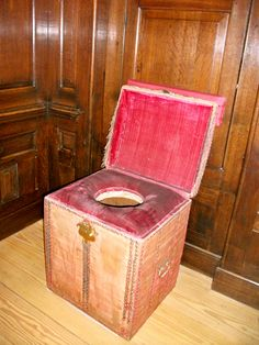 King Henry VIII's toilet at Hampton Court Palace in the South of England.