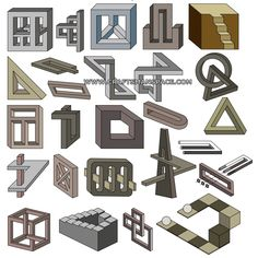 Impossible objects vector art