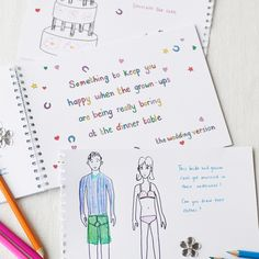 Great idea for kids.  #wedding #colouring #activity #pad #book #kids #children