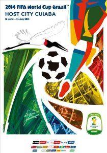 Fifa world cup 2014 official venue poster - cuiaba ( футбол открытки, Fifa World Cup 2014, Brazil World Cup, World Cup 2018, Zinedine Zidane, Tottenham Hotspur, Liverpool Fc, Ac Milan, Steven Gerrard, Neymar