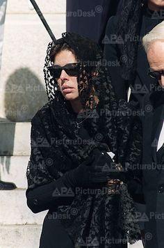 Caroline & Rainier at Stefano's funeral