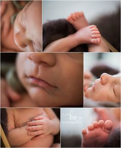 newborn baby features - hands, feet, lips, toes