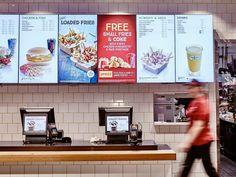 McDonald's Create Your Taste – Coates Group Menu Board Design, Cafe Menu Design, Food Menu Design, Restaurant Menu Design, Digital Menu Boards, Digital Signage, Mexican Food Menu, Cafe Menu Boards, Mcdonald Menu