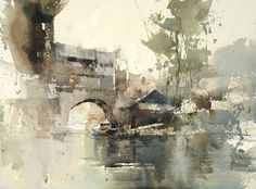 1.5 hr demo ,36 X 50 cm...unfinished.....Watercolor by Chien Chung Wei. When you are honest and face your desire to pursue excellence, you will gradually shine, and you will be different.: