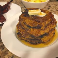Pumpkin pancakes!! Yummo and a definite keep! The kids loved loved loved them and so did Papa!