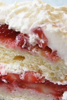 Strawberry Cake - Jenny Can Cook