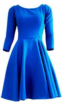 Vestido Retrô Godê Azul