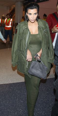 Kim Kardashian West Takes Flight in the New Look of Maternity Style