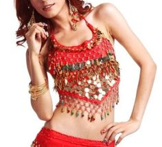 BellyLady Belly Top With Paillette And Small Bells for only s12.99 You save: s35.57 (73%)