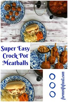 Super Easy Crock Pot Meatballs from Farmwife Feeds are a great easy meal or great tailgating option. Cheap Clean Eating, Eating Fast, Clean Eating Snacks, Healthy Eating, Gourmet Recipes, Crockpot Recipes, Healthy Recipes, Yummy Recipes, Dinner Recipes