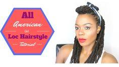 All American Girl Loc Hairstyle Tutorial/Jungle Barbie